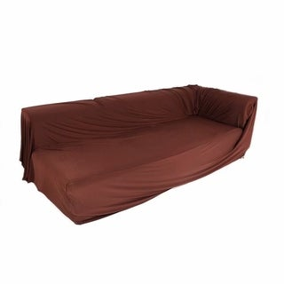 Spandex 2 Seats 3 Seats L-shaped High Elasticity Sofa Covers Chocolate