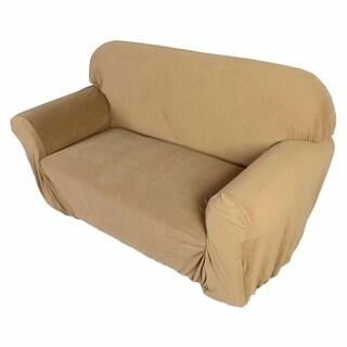 Stretch Slipcover 2-Seat Sofa Cover Beige