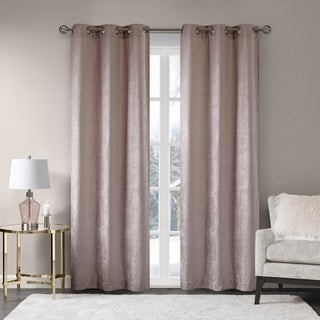 Madison Park Julian Chenille Window Curtain Pair 4-Color Option (More options available)