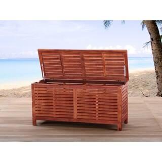 Toscana Brown Acacia Wood Cushion Box