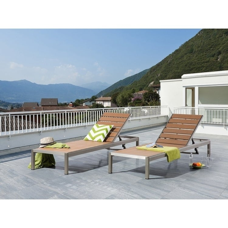 Aluminum Chaise Lounge Brown NARDO