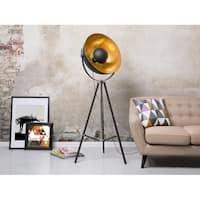 Thames II Industrial Black/Gold Tripod Floor Lamp