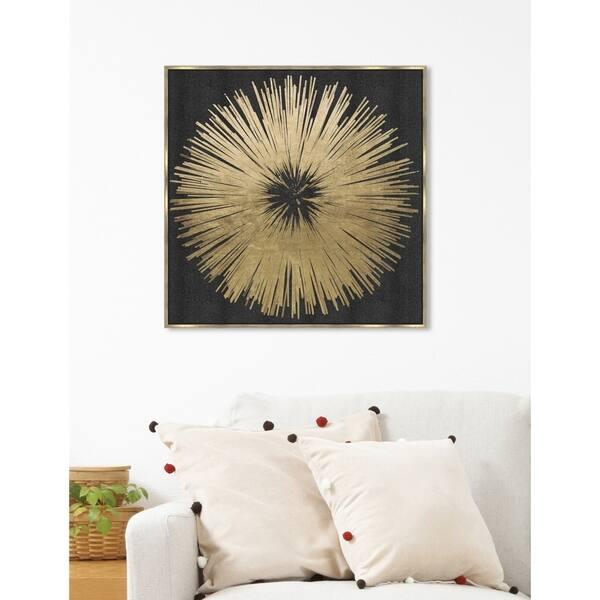 Shop Modern Oliver Gal Sunburst Golden Night Black Gold