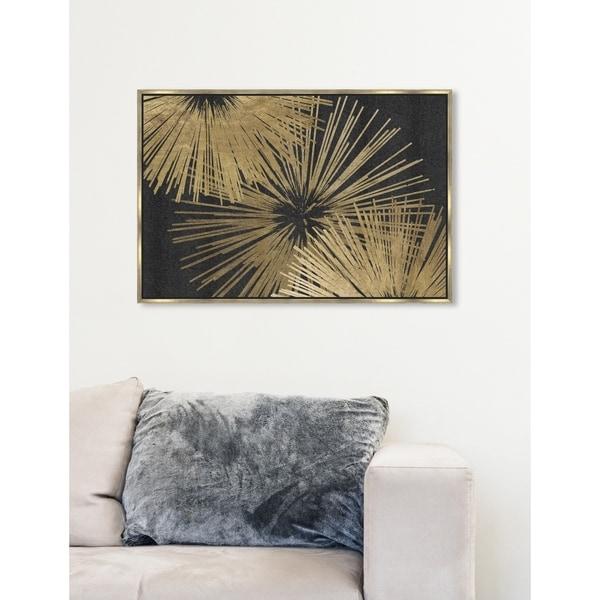 Shop Modern Oliver Gal Sunburst Glam Luxe Black Gold Abstract