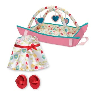Manhattan Toy Wee Baby Stella Portable Play Gym and Play Date Outfit - Baby Doll Accessory