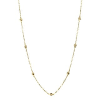 Icz Stonez 18k Gold over Silver CZ By the Yard Necklace