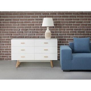 Newark White Scandinavian-style Cabinet Dresser Chest of Drawers