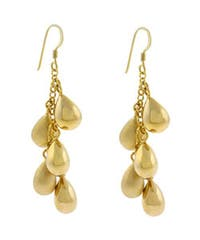 Mondevio 18k Gold over Sterling Silver Long Drop Earrings
