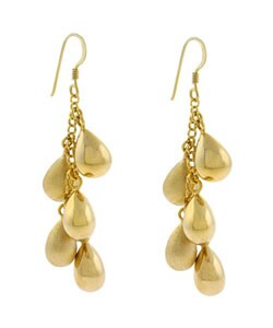 Mondevio 18k Gold over Sterling Silver Long Drop Earrings
