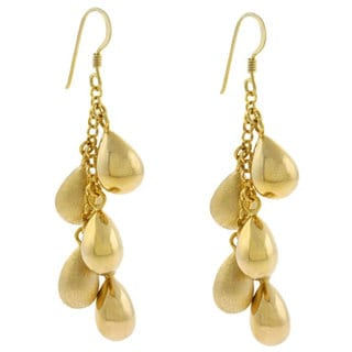 Link to Mondevio 18k Gold over Sterling Silver Long Drop Earrings Similar Items in Earrings