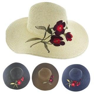 "Faddism Womens ""Liliana"" Straw Sun Hat"