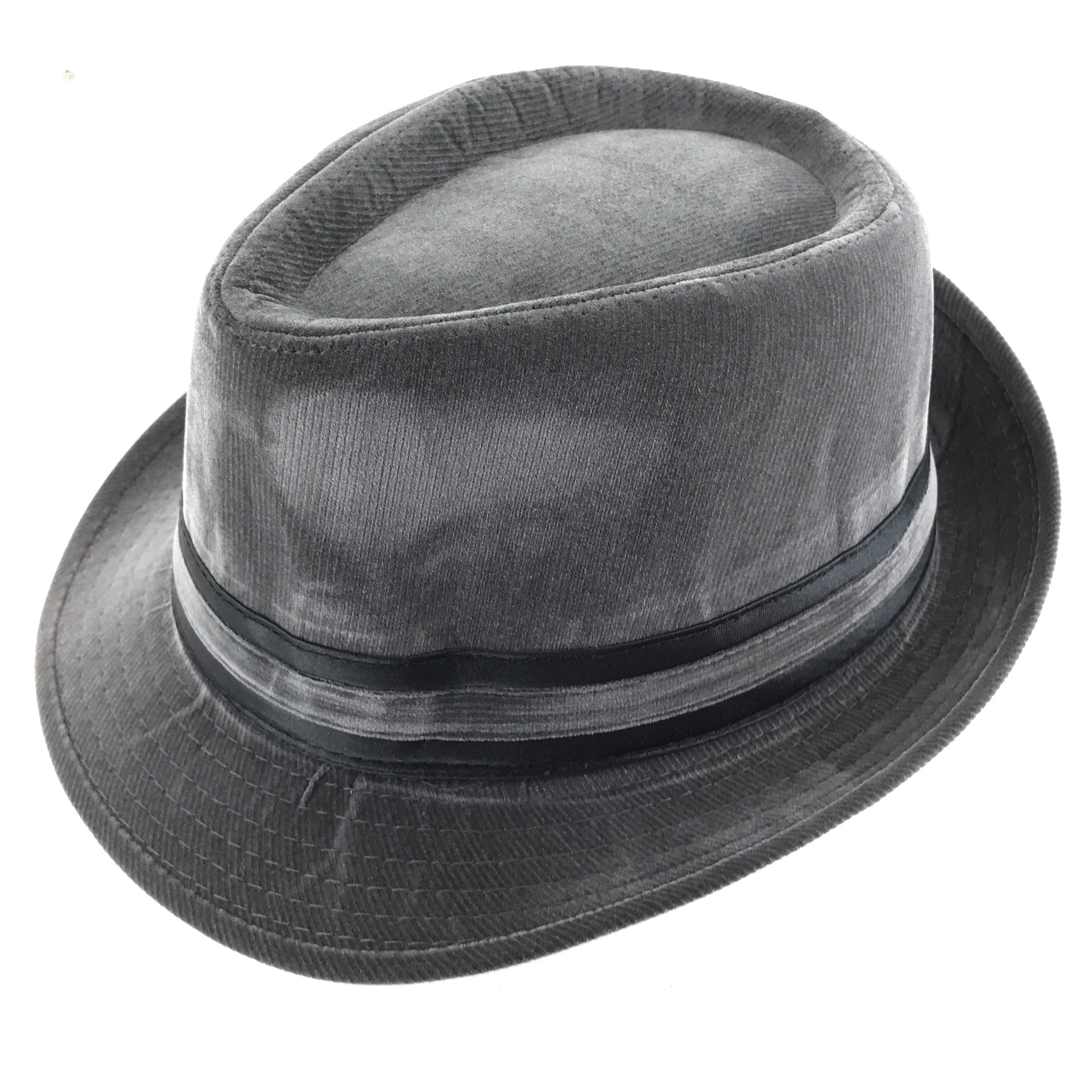 a095935644f Faddism Cuban Style Short Brim Fedora Suede Hat