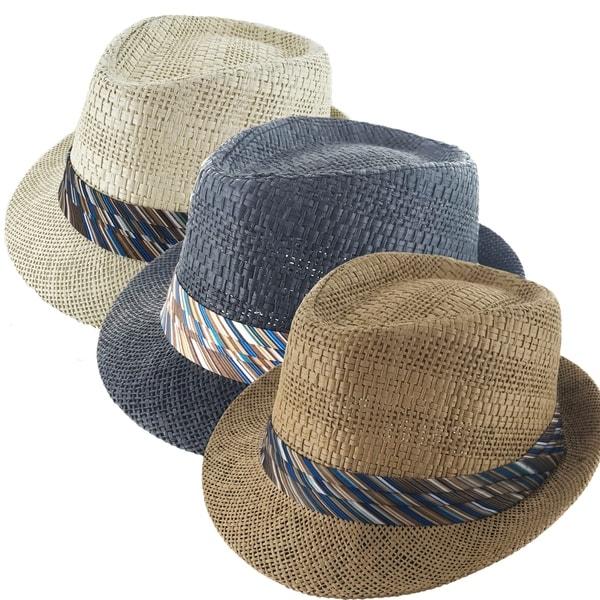 48cf50d7a7f Shop Faddism Festiva Cuban Style Short Brim Fedora Straw Hat - Free ...