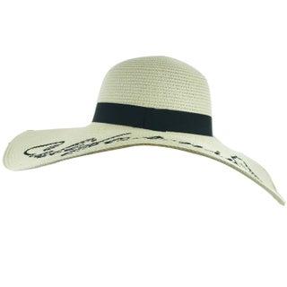 "Faddism Womens ""Beach Please"" Straw Sun Hat"
