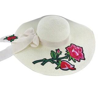 "Faddism Womens ""Rosa"" Straw Sun Hat"