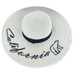 """Faddism Womens """"Calibear"""" Straw Sun Hat"""