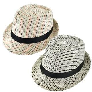 Faddism Cuban Style Short Brim Fedora Straw Hat