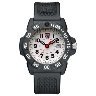 Link to Luminox Men's Navy Seal 3507 Carbon White Dial Rubber Strap Watch Similar Items in Men's Watches