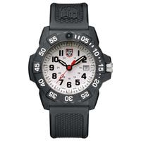Luminox Men's Navy Seal 3507 Carbon White Dial Rubber Strap Watch