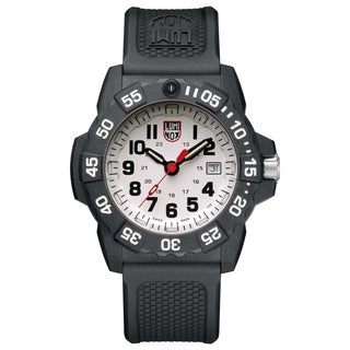 Luminox Men's Navy Seal 3507 Carbon White Dial Rubber Strap Watch - N/A