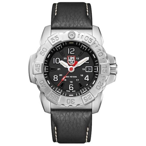 Luminox Men's Navy Seal 3251 Stainless Black Leather Strap Watch