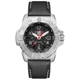 Link to Luminox Men's Navy Seal 3251 Stainless Black Leather Strap Watch Similar Items in Men's Watches