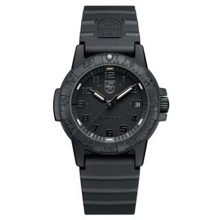 Luminox Men's Sea Turtle Black Rubber Bracelet Watch