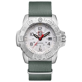 Link to Luminox Men's 3257 Navy Seal Stainless Green Nylon Strap Watch Similar Items in Men's Watches