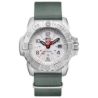 Luminox Men's Navy Seal Stainless Green Nylon Strap Watch