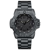 Luminox Men's 3252.BO Navy Seal Black-Out Stainless Bracelet Watch