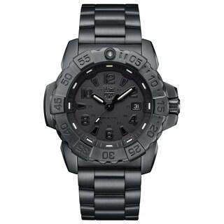 Luminox Men's Navy Seal Black-Out Stainless Bracelet Watch