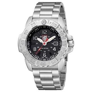 Luminox Men's 3252 Navy Seal Stainless Black Dial Bracelet Watch - N/A