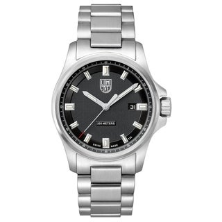 Luminox Men's 1832 Dress Field Stainless Black Dial Bracelet Watch - N/A