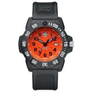Luminox Men's 3509.SC.SET Scott Cassell Orange Dial Black Rubber Strap Watch