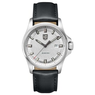 Luminox Men's 1839 Dress Field Stainless Black Leather Strap Watch