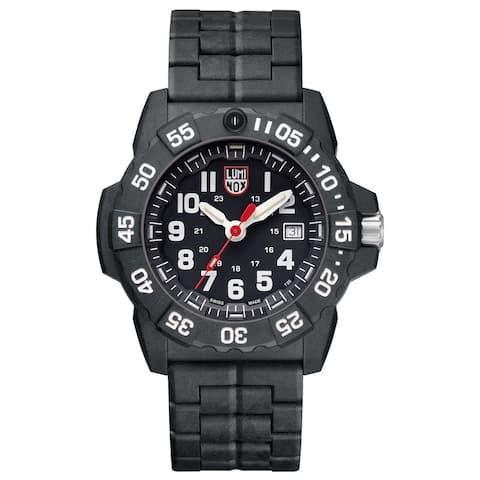 Luminox Men's 3502 Navy SEAL Trident Black Carbon Bracelet Watch