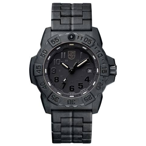 Luminox Men's 3502.BO Navy SEAL Trident Black Carbon Bracelet Watch
