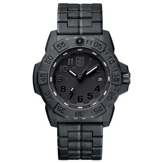 Link to Luminox Men's 3502.BO Navy SEAL Trident Black Carbon Bracelet Watch Similar Items in Men's Watches