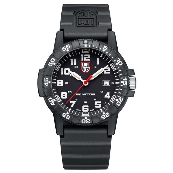 Luminox Men's 0321LUM Sea Turtle Black Rubber Bracelet Watch
