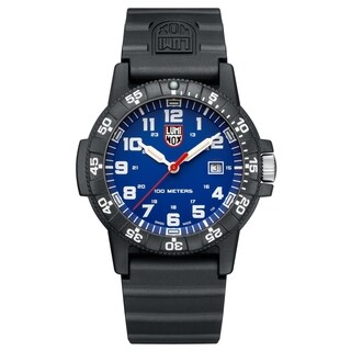 Luminox Men's 323LUM Sea Turtle Blue Dial Silicone Strap Watch
