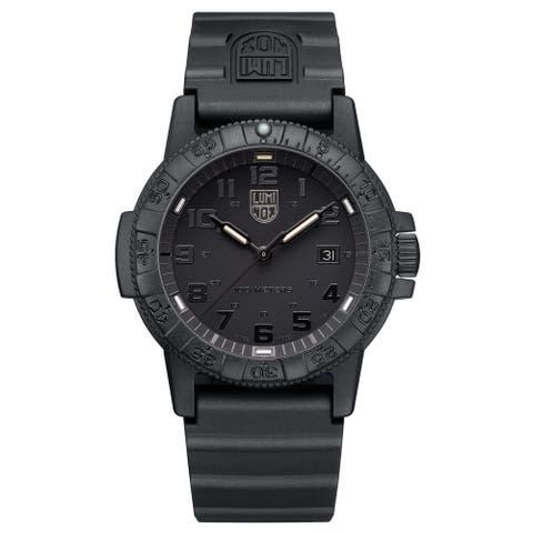 Luminox Men's 0321.BO Sea Turtle Black-out Rubber Bracelet Watch