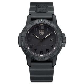 Luminox Men's Sea Turtle Black-out Rubber Bracelet Watch