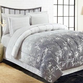 Brown & Grey Caroline Grey 8-Piece Bed-In-Bag Set