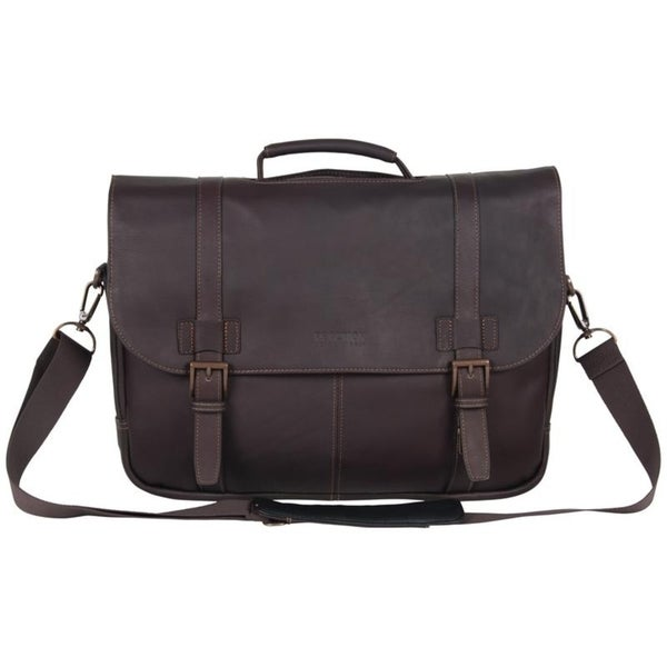 Kenneth Cole Reaction Full-Grain Colombian Leather Double Compartment Flapover 15.6in Laptop & Tablet Business Portfolio. Opens flyout.
