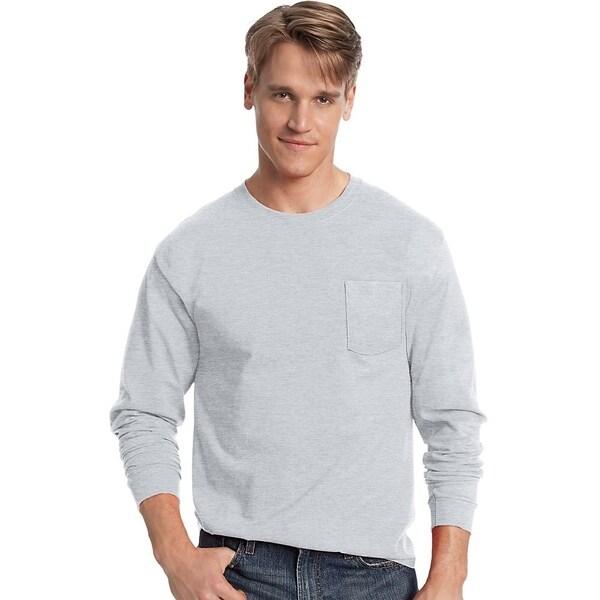 Hanes mens Tagless® ComfortSoft® Long-Sleeve Pocket T-Shirt (5596)