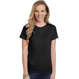 Hanes womens 5.2 oz. ComfortSoft® Cotton T-Shirt (5680)