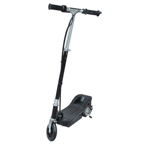 Aosom 24V Battery Powered Kids Ride-On Electric Motorized E-Scooter- Black