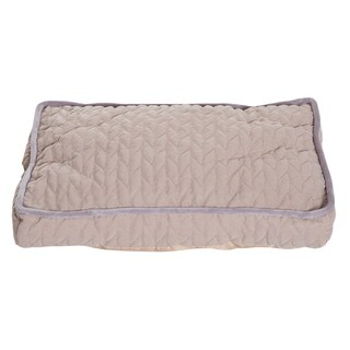 "PawHut 23"" x 16"" Rectangular Cushioned Plush Deluxe Pet Bed Mat"