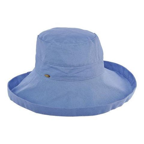 Women's Scala LC8 Medium Brim Hat Periwinkle