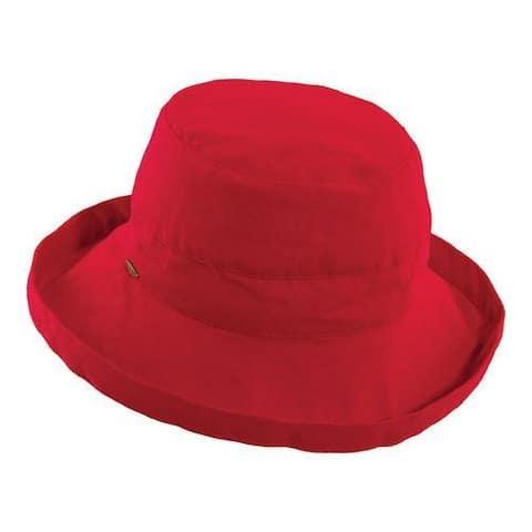 Women's Scala LC8 Medium Brim Hat Red